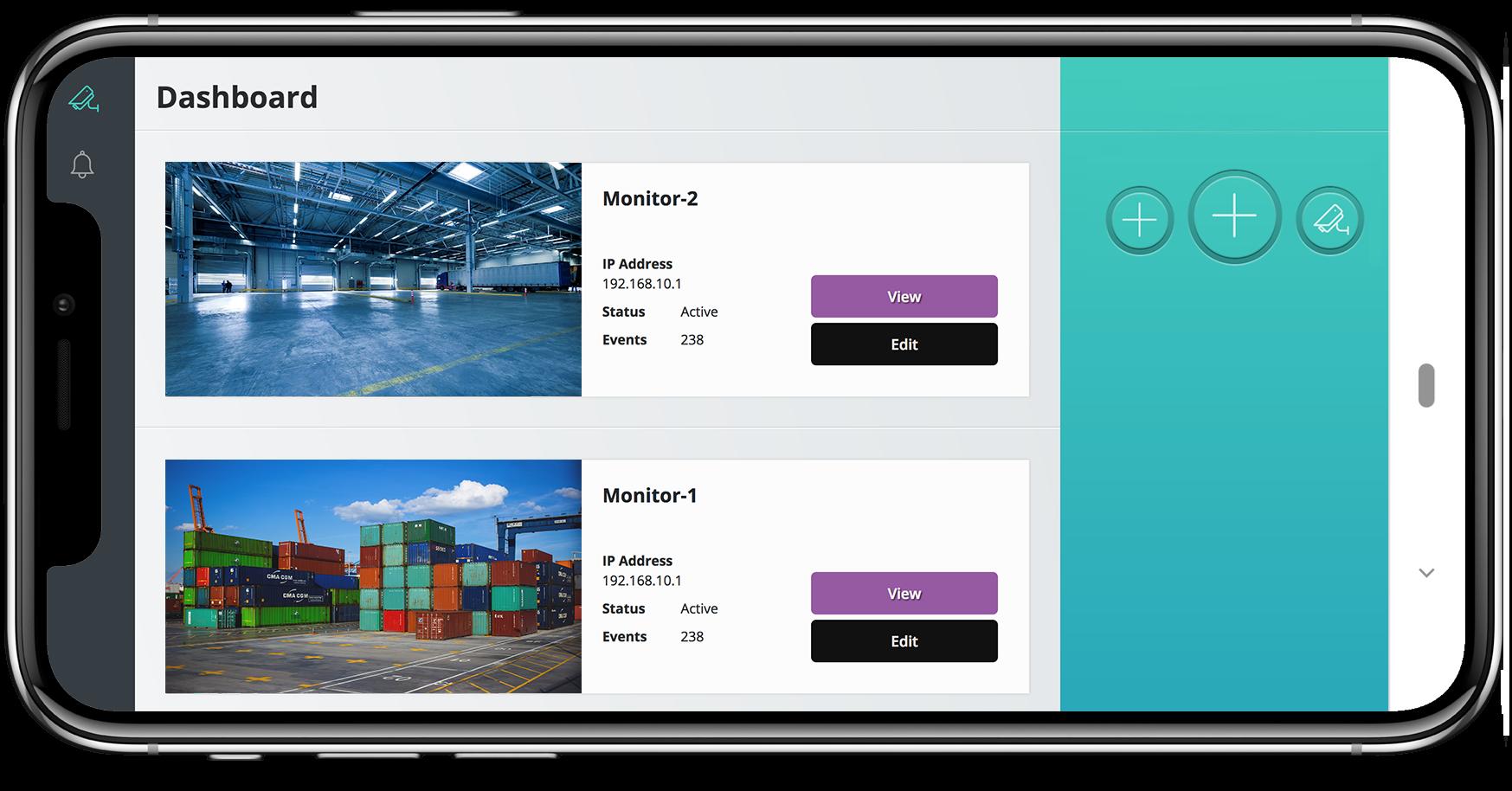 Mobile App für Videoüberwachung mit Live-Übertragung