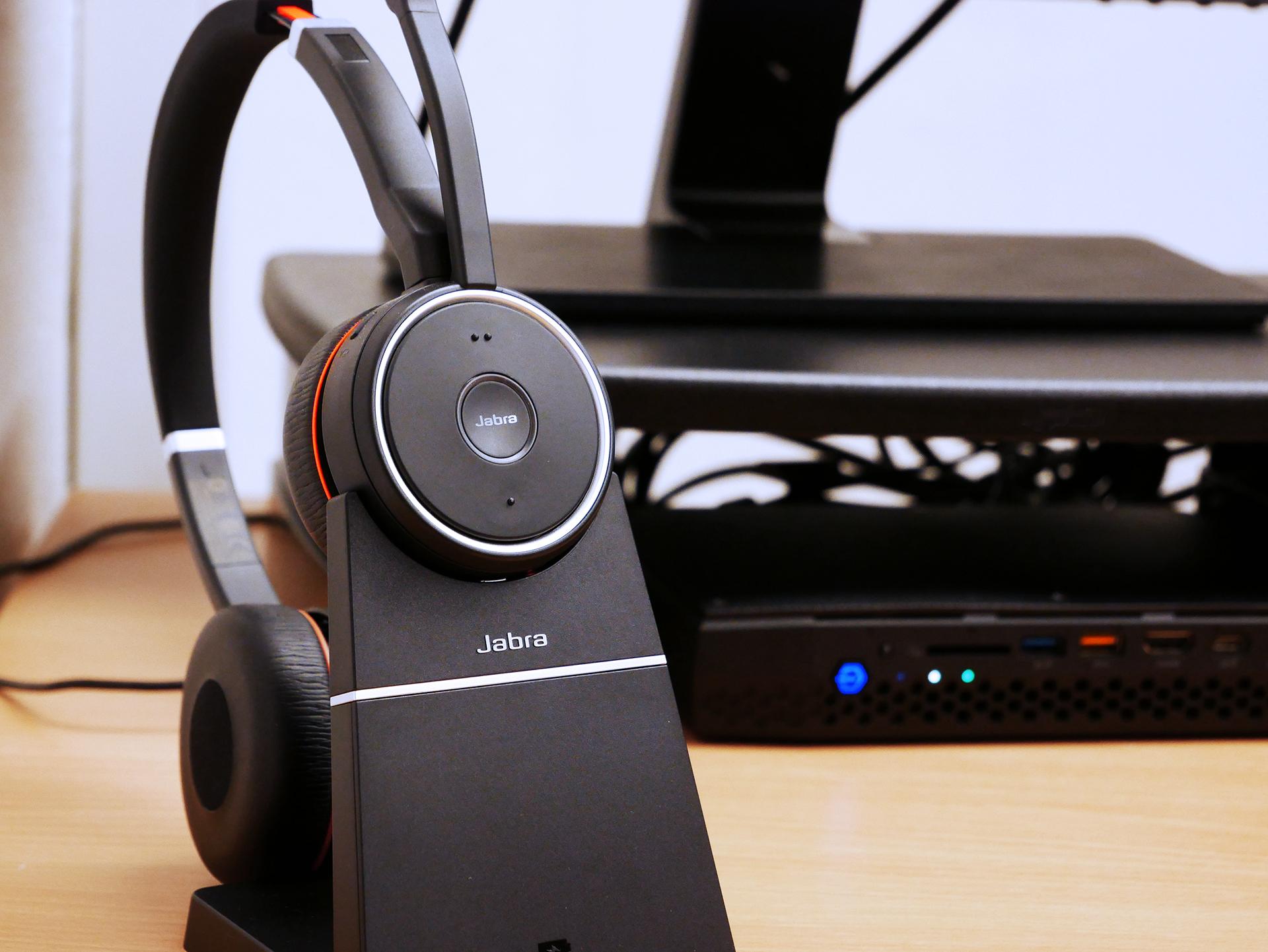 VoIP-Telefonie mit drahtlosem Headset